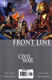 Civil War Front Line Comics